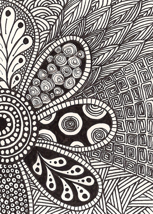 Easy Doodle Art Designs : Free coloring pages of flower doodling
